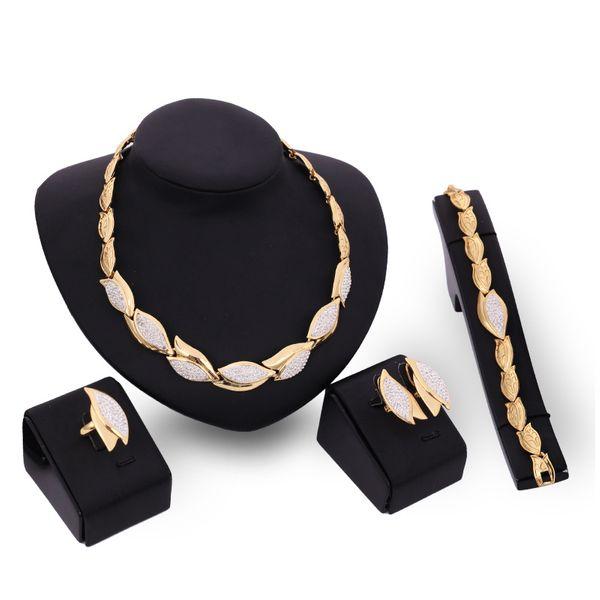 Occident alloy Drill set earring + necklace + Bracelet NHXS0714
