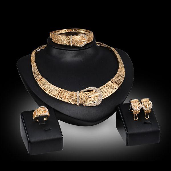 Occident alloy Drill set earring + necklace + Bracelet NHXS0767