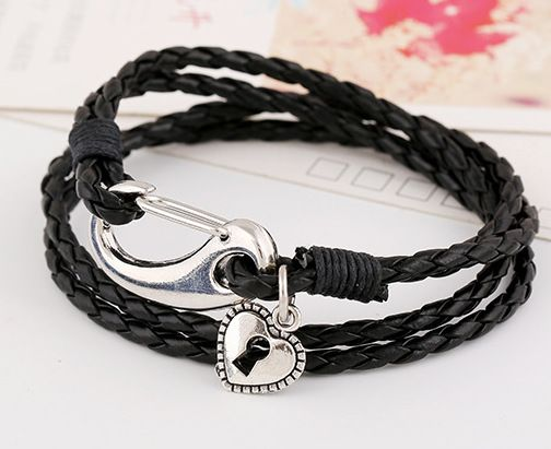 Korean Cortical Geometric Bracelet ( black ) NHPK0163-black