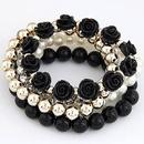 Occident gemstone beads flowers Elastic Ladies Bracelet NHNSC3291