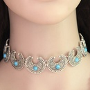 Alloy Turquoise necklace NHNSC3800