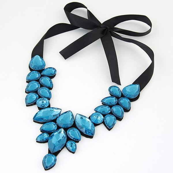 Acrylic Fabric necklace NHNSC3455