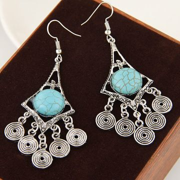 Alloy Turquoise earring NHNSC3461