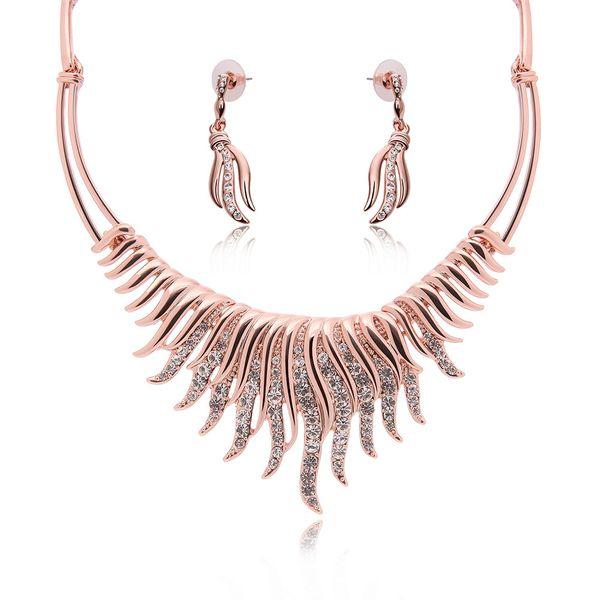 Occidental alloy Rhinestones Earrings + pendant  NHXS0822