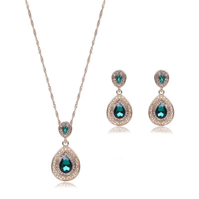 Occidental alloy Rhinestones Earrings + pendant jewelry +  NHXS0835