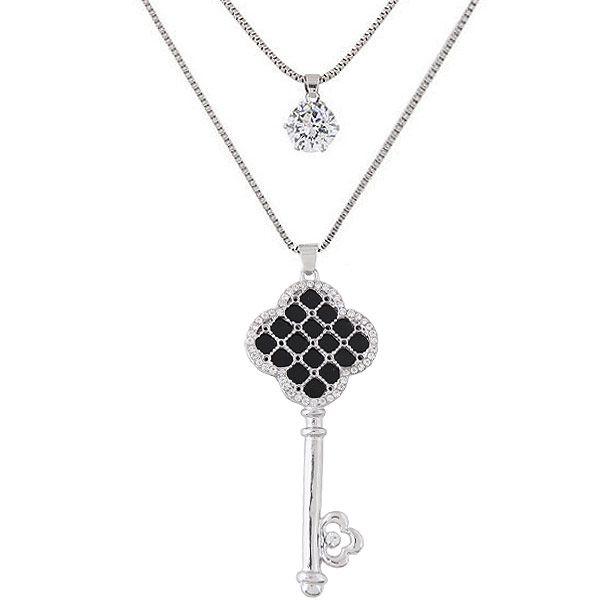 Alloy rhinestone zircon necklace NHNSC6035