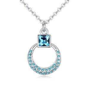 Austrian imitated crystal necklace - Yuan Jin (sea blue) NHKSE24504