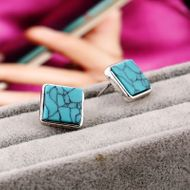 Simple alloy plating NHKQ0514-Ancient alloy turquoise (Ancient alloy turquoise) NHKQ0514