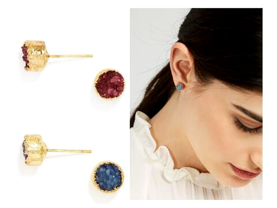 Fashion Alloy plating earring Geometric (Red wine)  NHNNZ3075