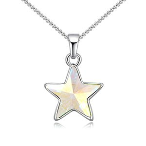Austrian Imitated crystal Necklace  Wishing Star White NHKSE26629