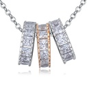 AAAlevel mosaic necklace  meaningful champagne alloy + platinum NHKSE26527