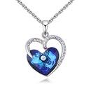 Austrian Imitated crystal Necklace  Love Sea NHKSE26687