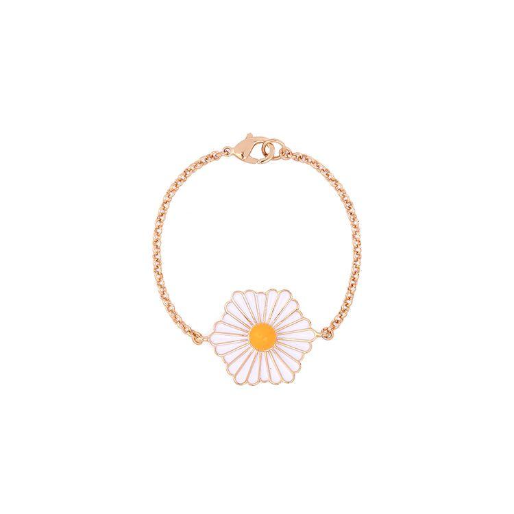 Fashion Alloy Drip oil Bracelet Flowers NHQD4126