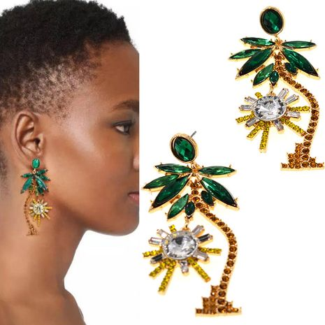 Fashion Alloy plating earring Flowers (Alloy)  NHNT0032's discount tags