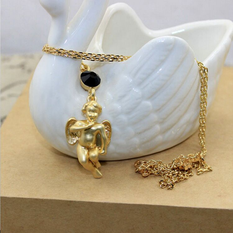 Other Alloy plating necklace Cartoon (Angel section)  NHNT0186