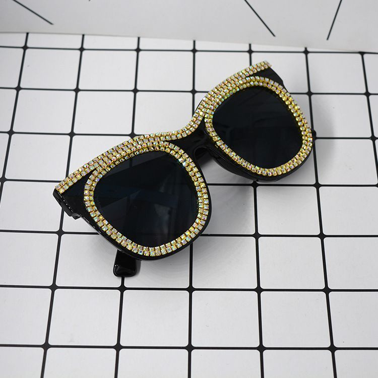 Vintage Alloy  glasses Geometric (black)  NHNT0221