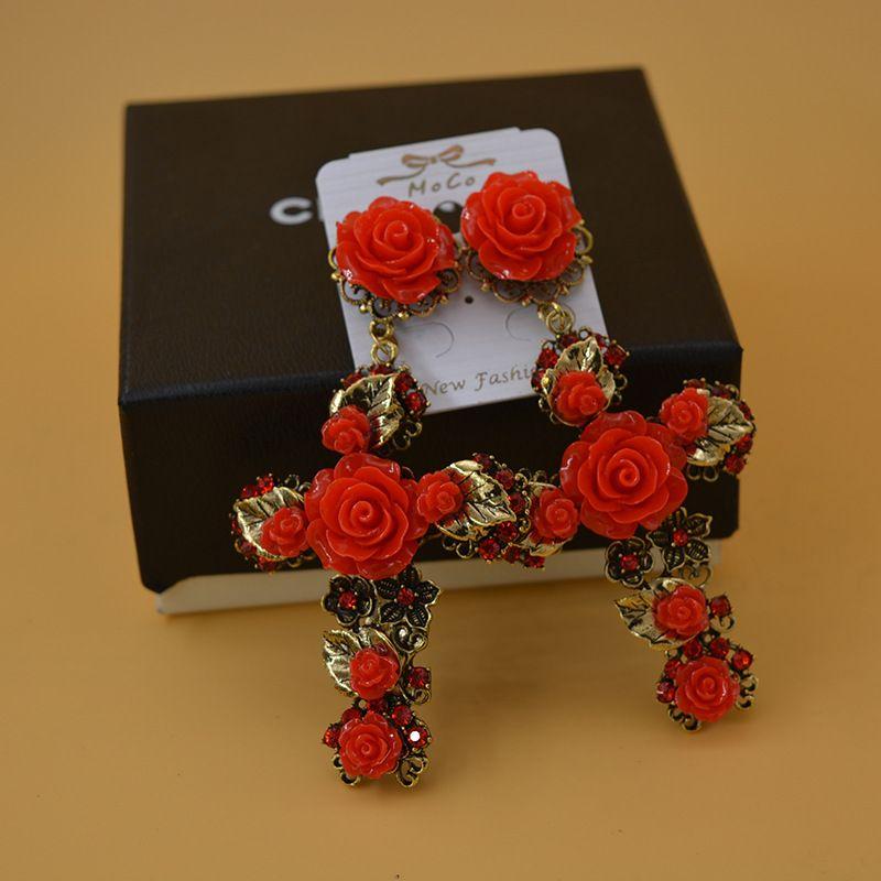 Fashion Alloy plating earring Geometric (red)  NHNT0284