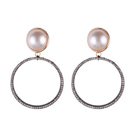Fashion Alloy Rhinestone earring Geometric (Alloy)  NHJQ9536's discount tags