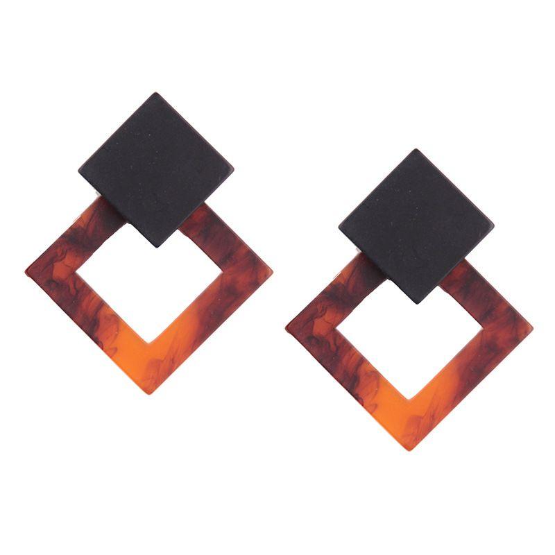 Fashion Acrylic  earring Geometric (Fire red)  NHJQ9574