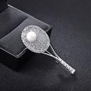 Korea Alloy  brooch Geometric White alloy  NHLJ3542