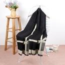 Other Cloth  Cashmere scarf  Black  70cmX185cm  NHCM0874