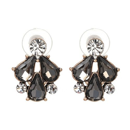 4 colors fashion jewelry trendy earrings wholesale simple but elegant earrings imitated crystal statement stud Earrings for wedding NHJJ3287