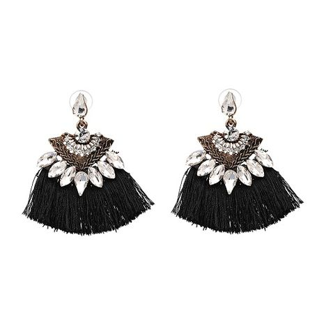 19 colors New imitated crystal earrings fashion women statement tassel Earrings for women dangle drops Fringing earrings jewelry NHJJ3297's discount tags