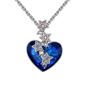 Austrian Imitated crystal Necklace  Star Rain Wish Platinum NHKSE26518