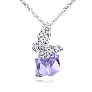 Austrian Imitated crystal Necklace - Papilio (Violet) NHKSE26477