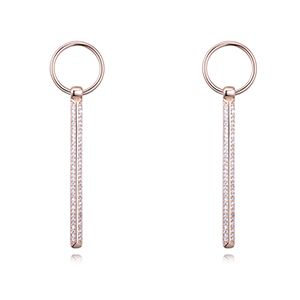 S925 Alloy Needle AAA Grade MicroZircon Stud Earrings  Just Like Rose Alloy NHKSE26363