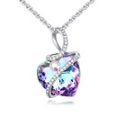 Austrian Imitated crystal Necklace  Pleasant Heart Purple NHKSE26425