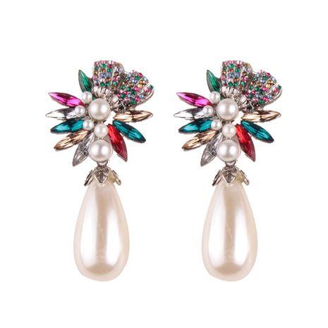 Fashion Alloy Rhinestone earring Geometric (green)  NHJQ9369-green's discount tags