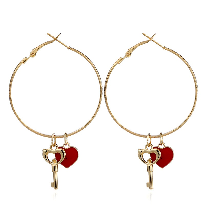 Fashion Alloy plating earring Geometric (red)  NHNZ0220-red