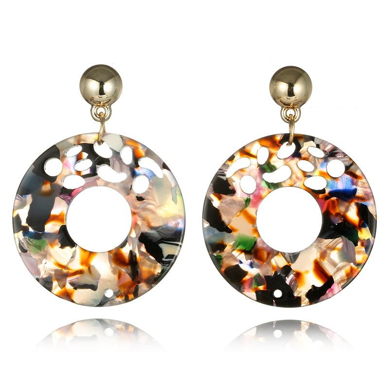 Bohemia Acrylic  earring Geometric (Rainbow)  NHGY0766-Rainbow