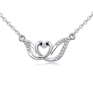 Imported Imitated crystal Necklace  Swan Dance White NHKSE26757