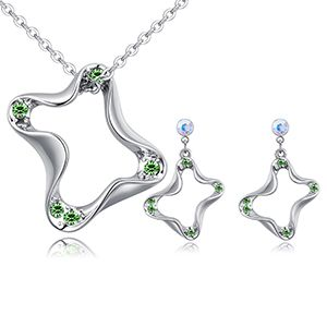 Imported imitated crystal set - the color Ann (Olive) NHKSE26768