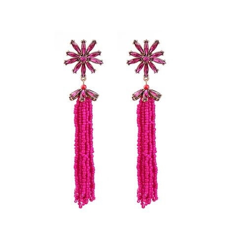 Fashion Alloy Rhinestone earring Flowers (Photo Color)  NHQD4205-Photo Color's discount tags