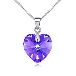 Austrian imitated crystal necklace  sweetie purple NHKSE26693