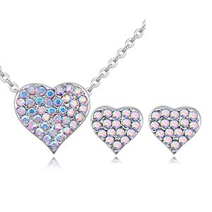 Imported imitated crystal set - Paris sweetheart (color white) NHKSE26792