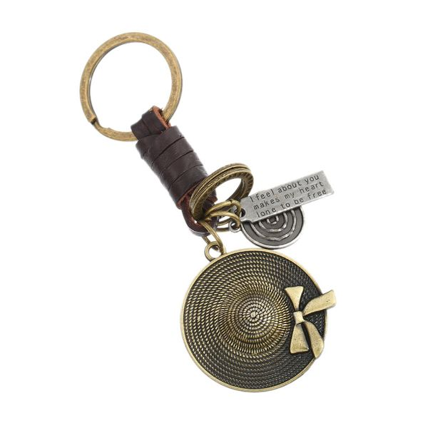 Vintage Leather  Keychain  (Bronze)  NHPK1172-Bronze