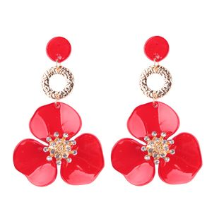 Fashion Acrylic  earring Geometric (red)  NHJQ9673-red's discount tags