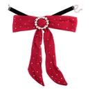 Collier en alliage de mode strass noeuds rouge NHJQ9697rouge