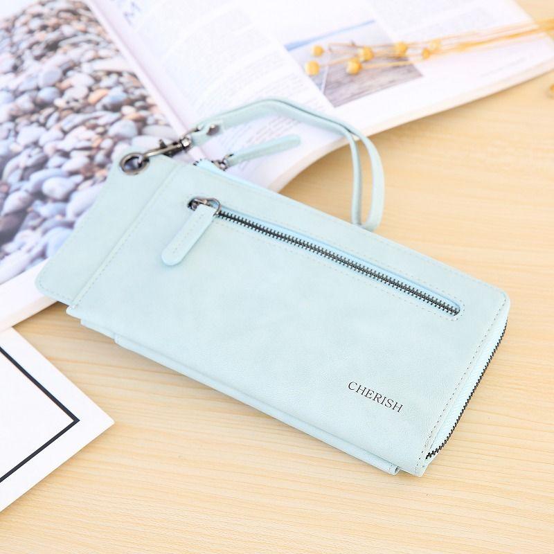 Cute PU  wallet  (blue)  NHNI0328-blue