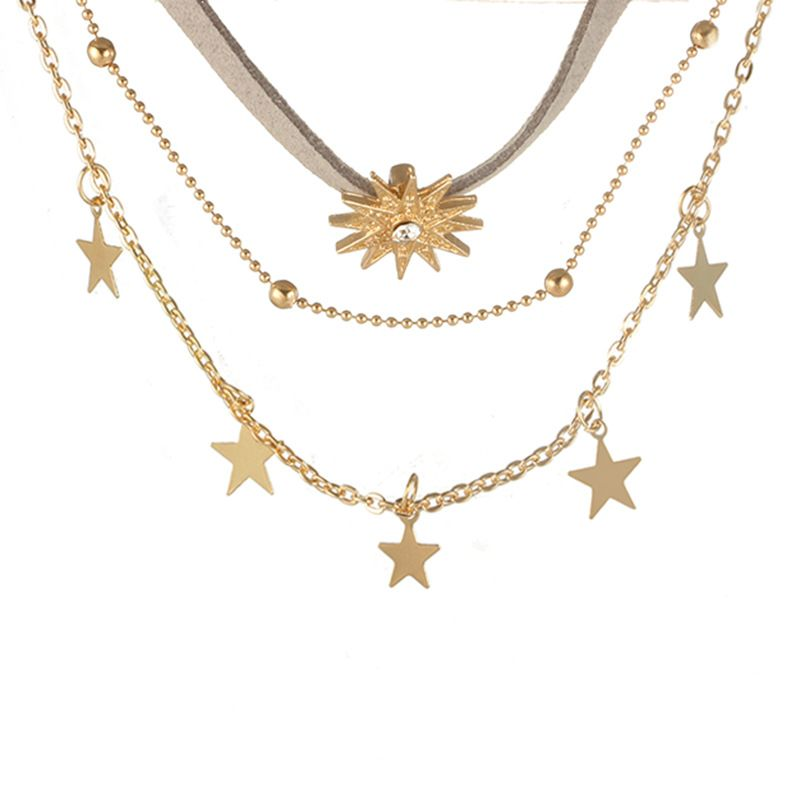Other Alloy  necklace Geometric (Alloy)  NHGY0726-Alloy