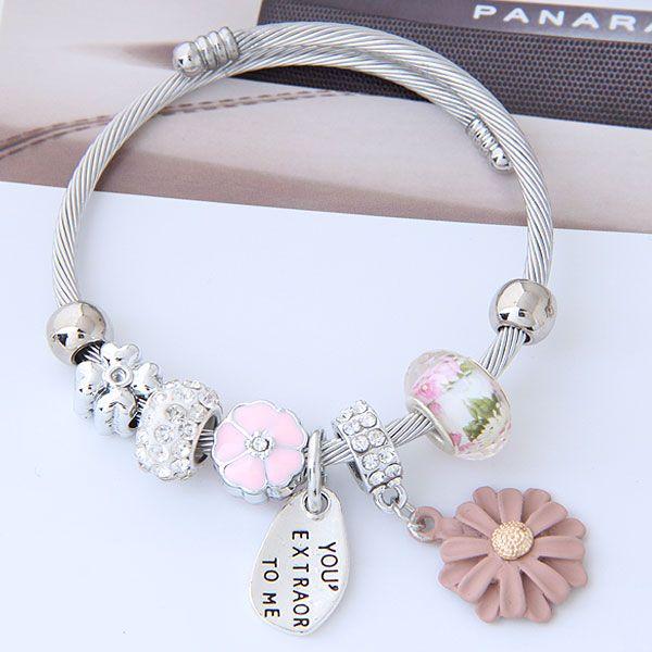 Titanium&Stainless Steel bracelet NHNSC9446