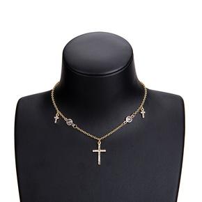 Other Alloy  necklace Geometric (Alloy)  NHWF3094-Alloy
