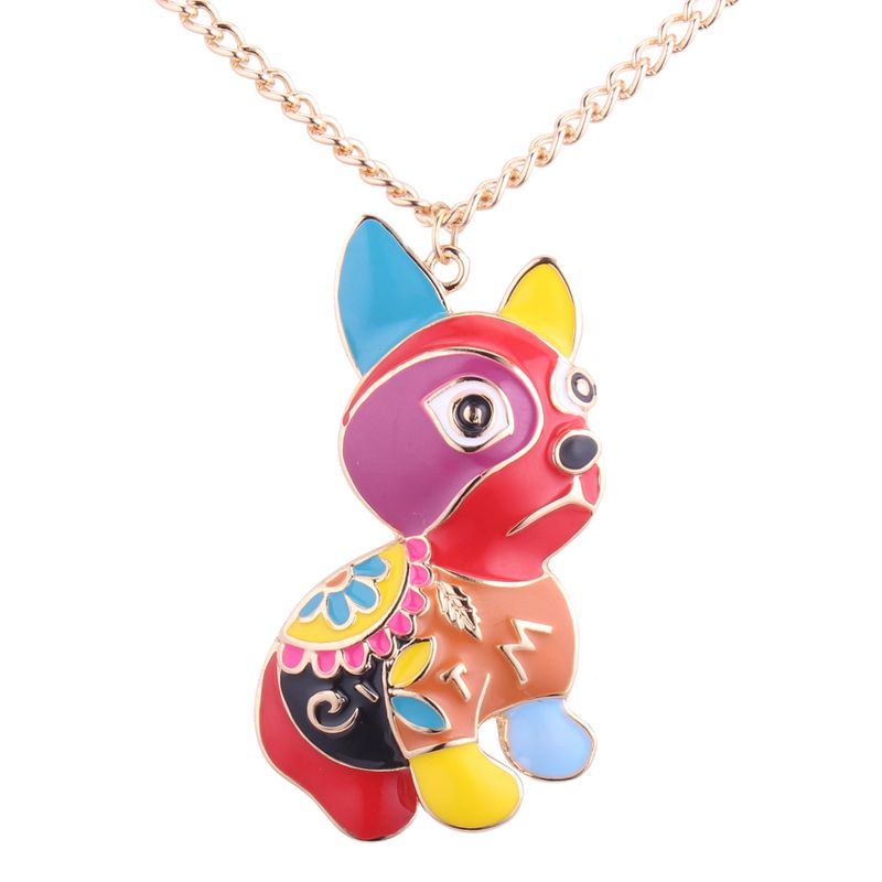 Korean fashion personality sell Meng dog necklace NHNPS3630