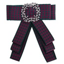 Fashion Alloy Rhinestone brooch Bows red  NHJE0902red