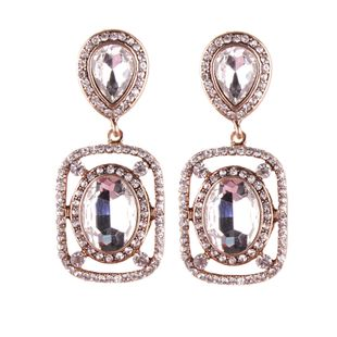 Fashion Imitated crystal&CZ  earring Geometric (white)  NHJQ9706-white's discount tags