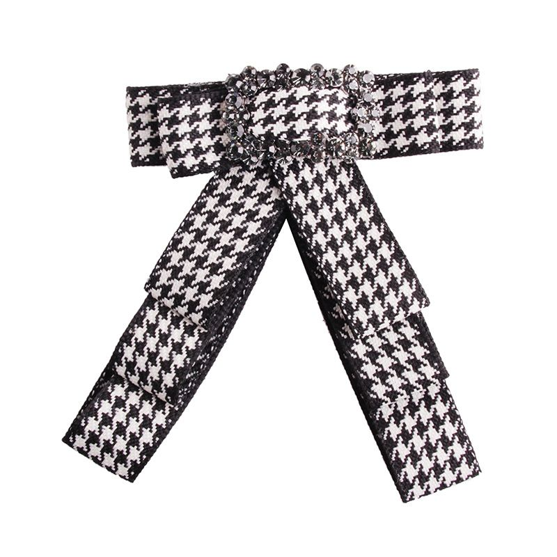 Fashion Alloy Rhinestone brooch Bows (white)  NHJQ9764-white